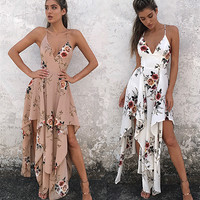 Bohemia Sexy Spaghetti Strap Prom Dress One Piece Dress [11179055247]