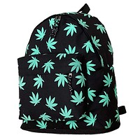 Weed Leaves - Cannabis Themed Two-Pocket Backpack - CannaPacks