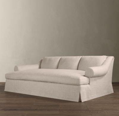 Restoration Hardware Sofa Bed Chesterfield Upholstered