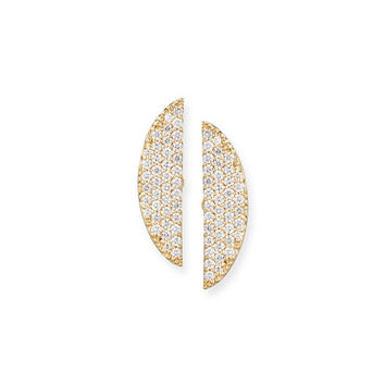 Lana Eclipse 14K Pavé Diamond Earrings