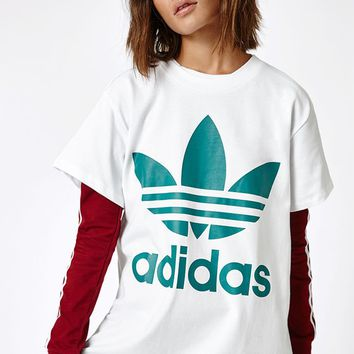 adidas Green Big Trefoil T-Shirt at PacSun.com
