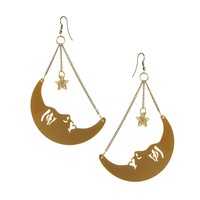 Tatty Devine | Tatty Devine La Luna Moon Earrings at ASOS
