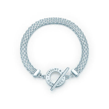 Tiffany & Co. - Tiffany Somerset™ toggle bracelet in sterling silver, medium.