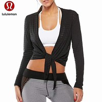 Lululemon Women Fashion Gym Yoga Sport Cardigan Coat Windbreaker