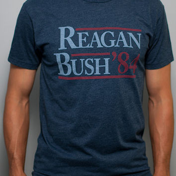 Reagan Bush '84 Vintage Tee Shirt - Midnight Navy | Rowdy Gentleman
