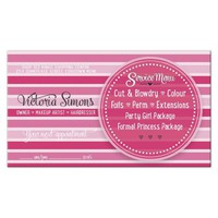 Pinky Stripes Hair & Beauty Business Cards
