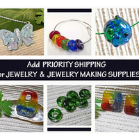 Priority Shipping Upgrade for Jewelry & Jewelry Making Supplies on In the Shade of the Sycamore Tree on Zibbet