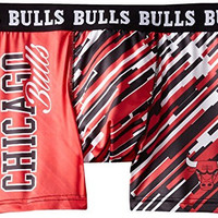 KLEW NBA Chicago Bulls Wordmark Underwear, Red, Large