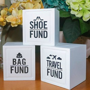 Bag or Shoe Fund Piggy Banks