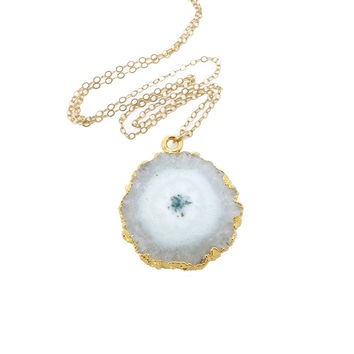 White Stalactite Necklace