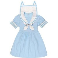 2016 Spring Cute Lolita Navy Style Girl's Long Sleeve  Dress Sailor with Bowknot