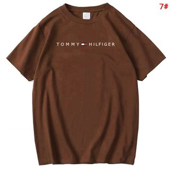 Tommy New fashion bust letter print couple top t-shirt 7#