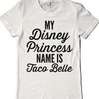 White T-Shirt | Funny Disney Taco Bell Shirts
