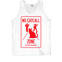 No Catcall Zone -- Unisex Tanktop