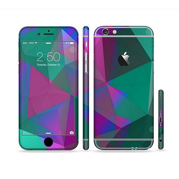 The Raised Colorful Geometric Pattern V6 Sectioned Skin Series for the Apple iPhone 6 Plus
