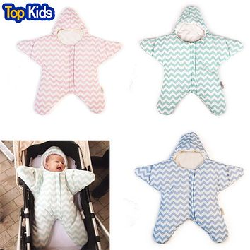 Baby sleeping bag star shape winter warm stroller sleeping bag