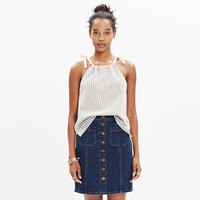 TEMPO TIE-SHOULDER TOP IN STRIPE