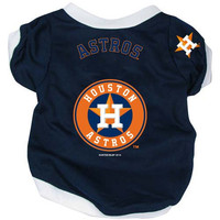 Houston Astros Pet Dog Baseball Jersey Alternate SMALL