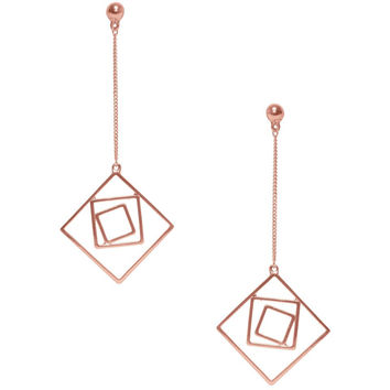 LILA GEO DANGLE EARRING IN ROSE GOLD