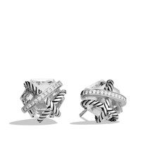 Cable Wrap Earrings with Crystal and Diamonds - David Yurman