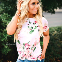 Something Special Floral Knot Top (pink)