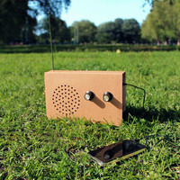 Cardboard Radio And Mp3 Player