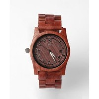 Flud Men's TMT017 The Moment Wooden Analog Red Wood Watch
