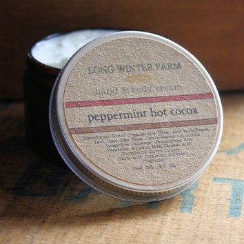 Peppermint Hot Cocoa Skin Cream with Organic by longwinterfarm