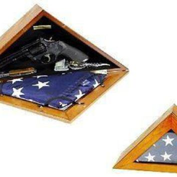 Military 3x5 Flag Box quick access Pistol Jewelry Concealment safe urn memorial