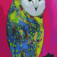 Modern Cross Stitch by Clara Nilles 'Owl On Lipstick' - Owl Cross Stitch Kit