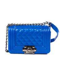 Royal Blue Quilted Touch Mini Purse