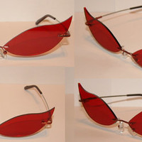 Red Cosplay Costume Sunglasses Glasses V2