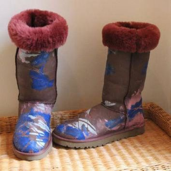 MDIG1O Ugg Boots Painted Big Bang Theory Penny size 10 Penny Penny Penny