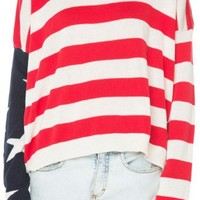 Brandy ♥ Melville |  Cassidy American Flag Sweater - Clothing