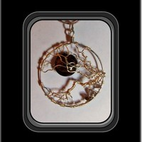 Love, good fortune,life,mother earth,Tree of life jewelry, smoky topaz