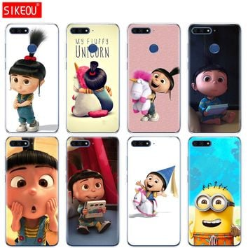 Silicone Cover Phone Case For Huawei Honor 7A PRO 7C Y5 Y6 Y7 Y9 2017 2018 Prime My Unicorn Agnes Minions
