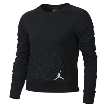 Jordan Red Label Angels Faux Quilted Cropped Girls' Sweatshirt, by Nike