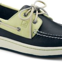 Sperry Top-Sider Sperry Cup 2-Eye Boat Sneaker Navy/LightYellow, Size 9M  Men's Shoes