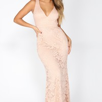 Finer Things Lace Dress - Blush