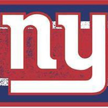 New York Giants NY VINTAGE Style Deluxe Laser Cut License Plate Tag Football