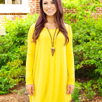 4241bc9d1b Piko Dress - Mustard from Love June