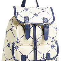 Amici Accessories Anchor Print Backpack (Juniors) (Online Only)