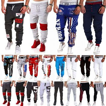Mens Casual Sweatpants Sports Slack Jogger Harem Pants Running Tracksuit Bottoms