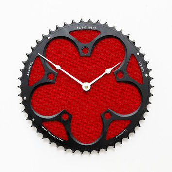 Recycled Bicycle Cog Clock - Industrial Wall Clock - Steampunk Clock - Bike Clock - Tour De France Clock - Bike Gear Clock - Cycling Gift