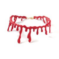 Red Plastic Halloween Blood Drip Choker* - Men's Jewellery & Watches - Shoes and Accessories