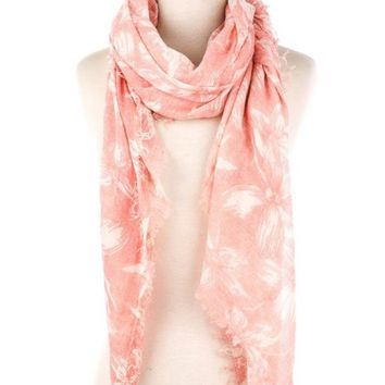 Fame Accessories Tropical Floral Scarf