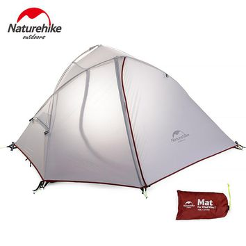DHL For 1 Person Naturehike Wind-Wing Tent Hiking Camping Tent light 20D Nylon rainproof breathable with mat  NH16S012-S 1 man