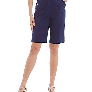 Allison Daley Petite Pull-On Stretch Canvas Shorts