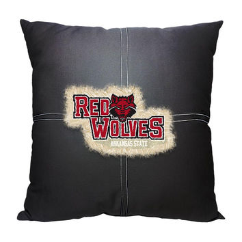 Arkansas State Red Wolves NCAA Team Letterman Pillow (18x18)