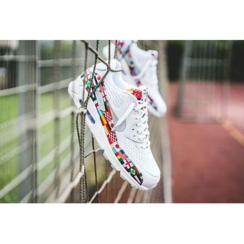 "Nike Air Max 90 NIC QS White ""International Flag"" Shoes"